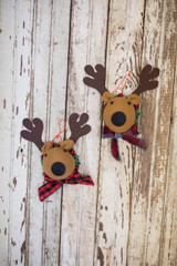 """7"""" Deer Head with Scarf Ornament"""