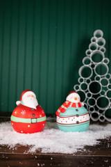 "7"" Nostalgic Santa/Snowman Figurine"