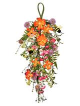 "22"" Summer Bloom With Bee Teardrop"
