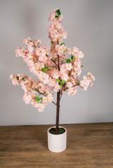 "42"" Pink Cherry Blossom Tree in Ceramic Pot"