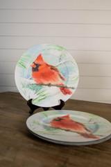 """13"""" Cardinal Charger Plates- Set of 4"""