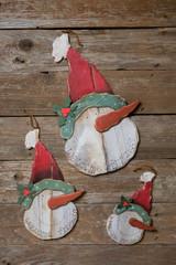 "18"" Wood Snowman Head Wall Decor"