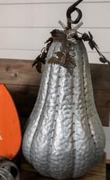 """24"""" Tall Galvanized Metal Pumpkin"""