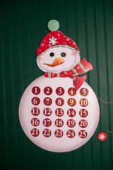 """27.5"""" Snowman Count Down Calendar Board"""