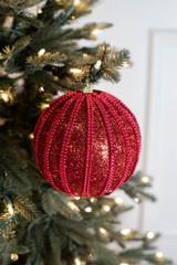 """6"""" Red Ball Bead Slitter Stripe"""
