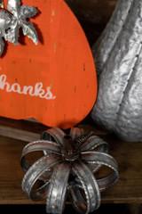 "7"" Small Metal Ring Pumpkin"