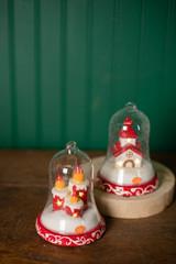 "6"" Dolomite/Glass Candle/Church Ornament"