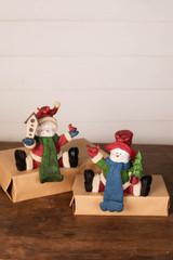 """6"""" Resin Stocking Hanger Snowman"""