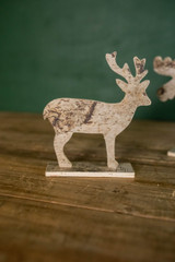 "7.75"" Birch Moose Christmas Decor"