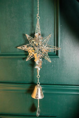 """30.5"""" Metal Silver Star Wind Chime"""
