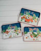 "17.3"" L Holiday Snowman Design Tray"