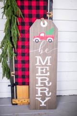 "36"" H Wood Holiday Sign Wall Hanging Decor"
