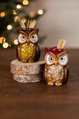 Ceramic Owl Tooth Pick Holder
