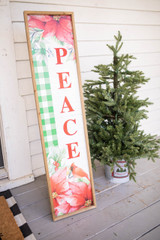 """48"""" Wood Cardinal Leaner Sign with Easel"""