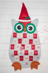 """36"""" Felt Christmas Owl Advent Calendar"""