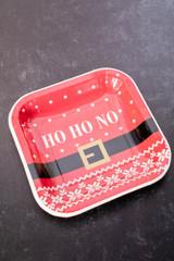 """8"""" Paper Ho Ho No Plate - Set of 8"""