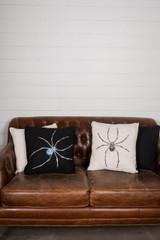 """16"""" Sequin Spider Halloween Pillow"""