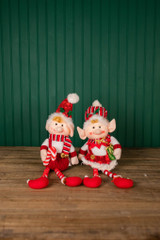 "16"" Plush Holiday Elf Shelf Sitters"