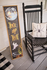 """47"""" Wood Halloween Sign with Easel Back Trick or Treat"""