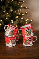 Holiday Design Enamel Mug
