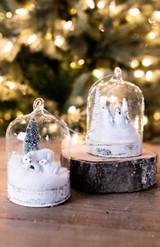 """4"""" Glass Cloche Ornament"""