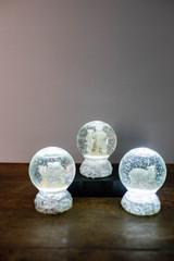 "5"" Light Up Acrylic Polar Bear Water Globe"