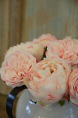 """22"""" Just Cut Blush Pink Peony Real Touch Flower"""
