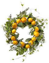 """26"""" Lemon & Leaf Wreath"""