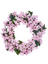 "20"" North American Dogwood Wreath Pink"