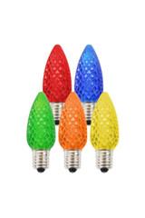 C9 Elite LED SMD Bulb (25 bulbs/box) - Platinum Faceted, Multi