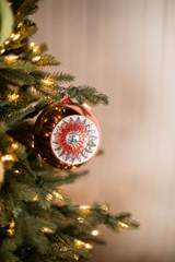 """3.75"""" Vintage Witch Eye Ornament - Small Pink"""