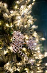 "26"" Glitter Sequin Cutout Poinsettia Spray"