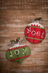 """10"""" Deco Joy/Noel Ornament"""
