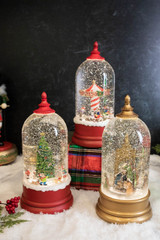 """10"""" Battery Operated Lighted Spinning Water Globe with Holiday Design"""