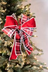 """16"""" x 10"""" Double Plaid Bow Ornament"""