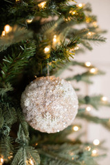 """4"""" Sequined Ball with Snowflake Ornament"""