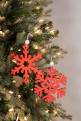 "6"" MDF Antique Snowflake Ornament"