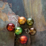 """3"""" Candied Fruit Colored Ornaments - Set of 6"""
