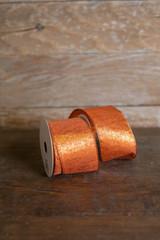 "2.5"" x 10 Yard Orange Shimmer Ribbon"