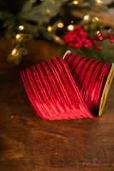 """4"""" x 10 Yard Red Velvet Ribbon"""