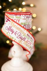 "2.5"" Christmas Sayings Ribbon"