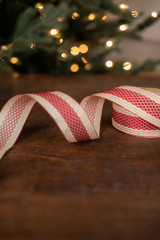 Red Diamonds on Beige Ribbons