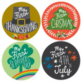 Lucy Darling My First Holidays Milestone Stickers