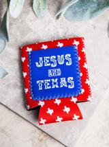 Jesus And Texas Drink Koozie