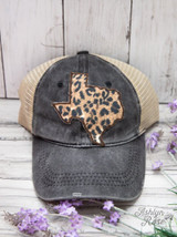 Southern Junkie Country Texas Leopard Print Trucker Hat