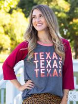 Texas Ladies Raglan T-Shirt