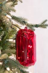 "9"" Acrylic Emerald Cut Precious Gem Christmas Ornament"