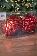 "6"" VP Shiny Diamond, Red Onion Finial Christmas Ornament - Box of 2"