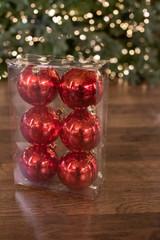 8 CM Red Mercury Ball Ornament - Box of 6