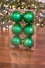 80MM Green Matte Mercury Ball Ornament Box of 6